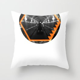 Trapped In Abstract Throw Pillow