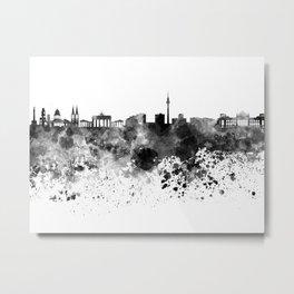 Berlin skyline in black watercolor Metal Print
