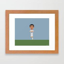 Gareth Bale's celebration Framed Art Print