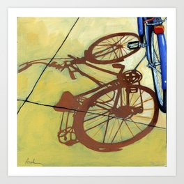 The Blues - bicycle series painting Art Print