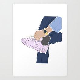 Sneakers Raf Simons Art Print