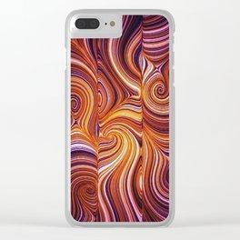 Electric Field Art LIV Clear iPhone Case