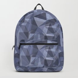 Ice: Abstract Polygon Blue and Purple Cubism Low Poly Triangle Design Backpack