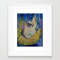 indigo Framed Art Prints featuring Indigo by Michael Creese