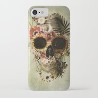 skull iPhone & iPod Cases featuring Garden Skull Light by Ali GULEC
