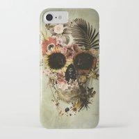garden iPhone & iPod Cases featuring Garden Skull Light by Ali GULEC