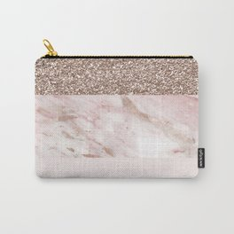 Portofino marble rose gold luxe Carry-All Pouch