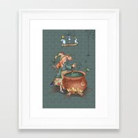 witch Framed Art Prints featuring Witch by Catru