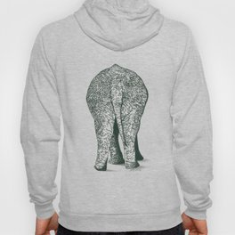 Southern End of a North Bound Elephant Hoody