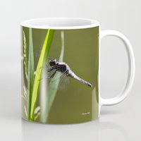 dragonfly Mugs featuring Dragonfly by Christina Rollo