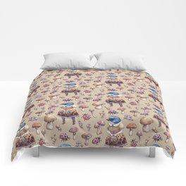 Mushroom Pickers - Lady Blue Comforters