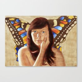 Hübsche Motte Canvas Print
