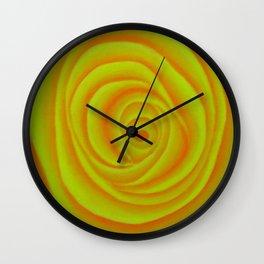Yellow Rose Wall Clock