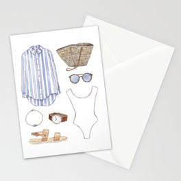 Beach outfit Stationery Cards