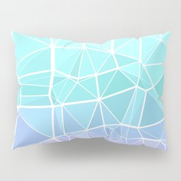 Cyan, Turquoise, and Purple Triangles Pillow Sham