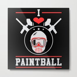 Paintball Softair Airsoft Gotcha Shoot Gift Idea Metal Print