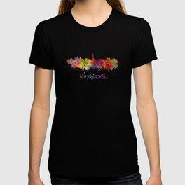 Reykjavik skyline in watercolor T-shirt