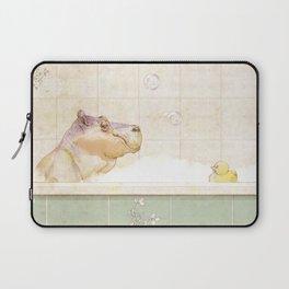 Hippo in the bath Laptop Sleeve