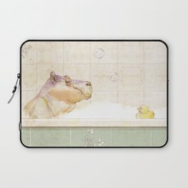 Hippo in the bath Laptop Sleeve