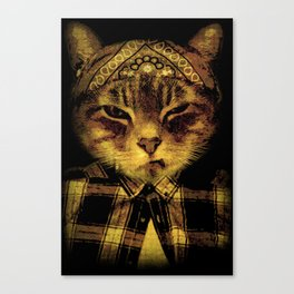 Gangster Cat Canvas Print