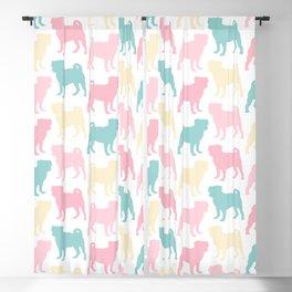 Pastel Pugs Pattern Blackout Curtain