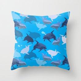 Aquaflage Throw Pillow