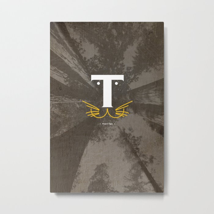T for Tiger #Typo Metal Print