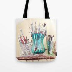 Kathy's Paintbrushes Tote Bag