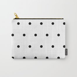 Black and white Polka Dots Pattern Carry-All Pouch