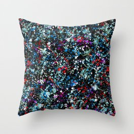 paint drop design - abstract spray paint drops 4 Throw Pillow