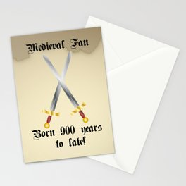 Medieval Fan Stationery Cards