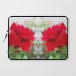 Red Rose Edges Art Triangles 2 Laptop Sleeve