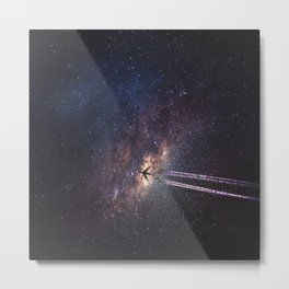 intergalactic space travel Metal Print
