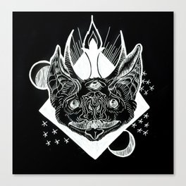 Batphomet (black) Canvas Print