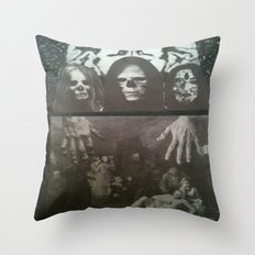 Neo Bedlam Dystopia Throw Pillow