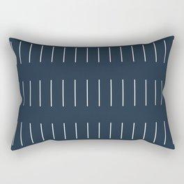 Mudcloth (Annapolis Blue) Rectangular Pillow