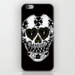 Sugar Skull - Black and White iPhone Skin