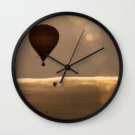 Flying towards the Sun Wall Clock