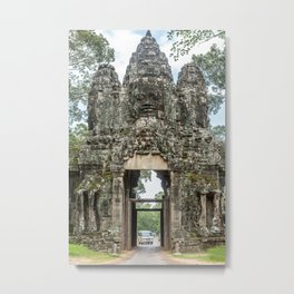 Leaving Through the Angkor Thom South Gate, Siem Reap, Cambodia Metal Print