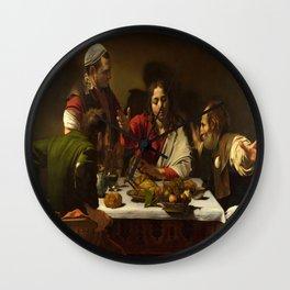 Caravaggio's Supper at Emmaus Wall Clock