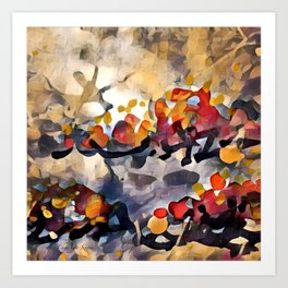 Splashes Of Color Red and Orange by CheyAnne Sexton Art Print