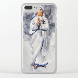 Mother Teresa Clear iPhone Case