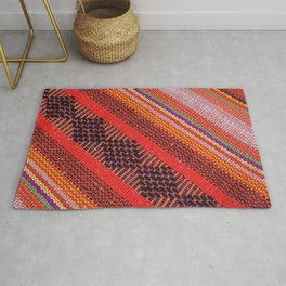 Colorful knitwear with multi color of the rope as a background. Rug