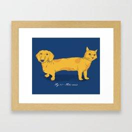 Felis canis Framed Art Print