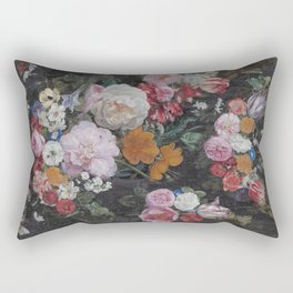 Vintage Bohemian Flower collage Rectangular Pillow