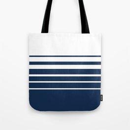 White blue striped pattern . Tote Bag