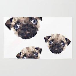 Pug Diamonds Rug