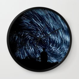 Contemplation Time Classic Blue Wall Clock
