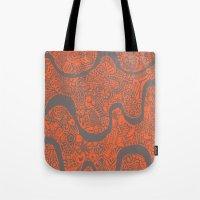 safari Tote Bags featuring Safari by datavis/pwowk