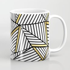 Ab Lines 2 White Gold Mug